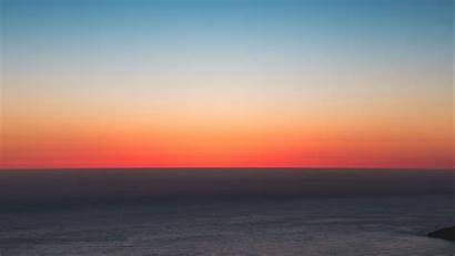 Sunset Sky Horizon Sea 4k Background Uhd