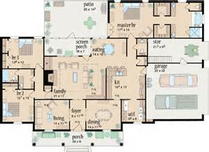 Style House Plans Country Style House Plans 2349 Square Foot Home 1 Story 3 Bedroom And 2 Bath 2