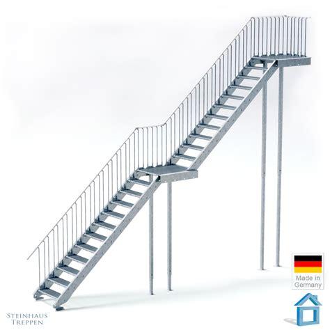 Bausatz Zugangstreppe Stahl Feuerverzinkt Mit
