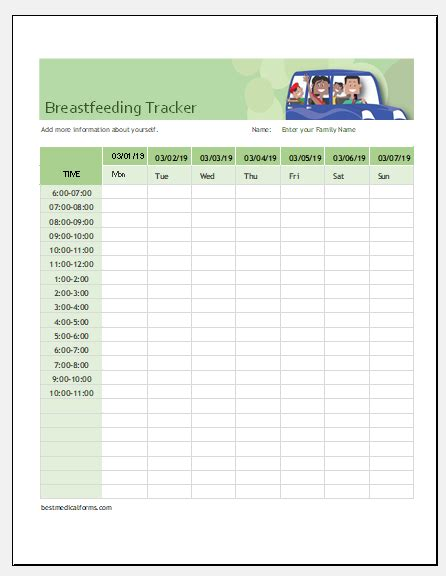 daily food diary chart template printable medical forms