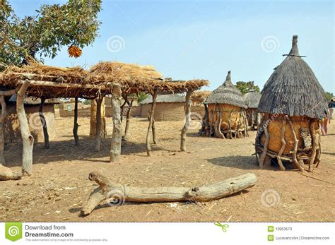african village stock image image  savanna home house