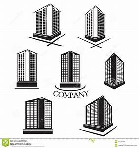 Set Of Company Building Vector Logo And Icon Stock Vector ...