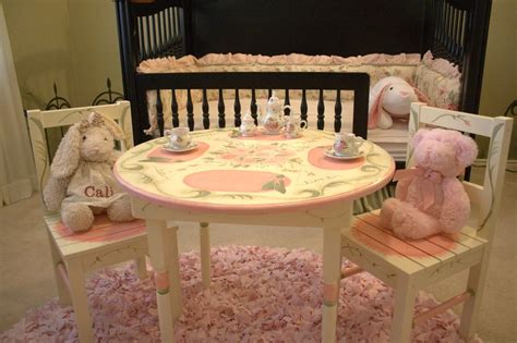 children s tea table and chair set painted the