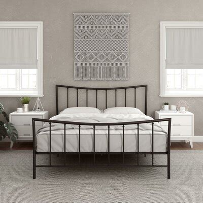 platform queen size beds youll love wayfair
