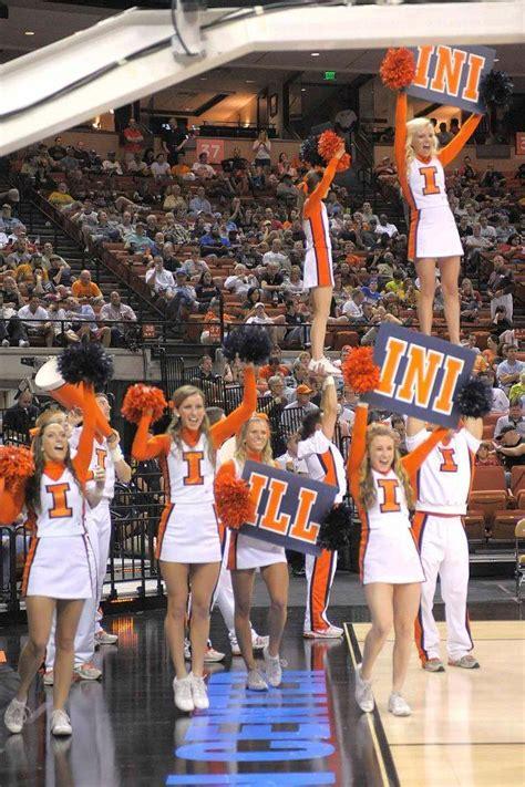 cheerleaders university  illinois illini basketball
