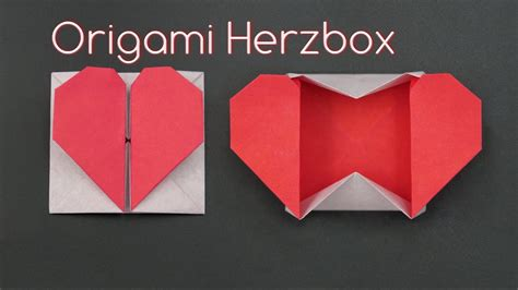 muttertagsgeschenke basteln einfache origami herzbox