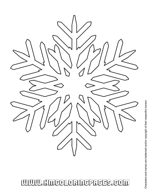 printable snowflake template printable snowflake coloring sheet h m coloring pages