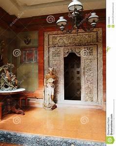 Balinese House Front Door Way Royalty Free Stock Photos