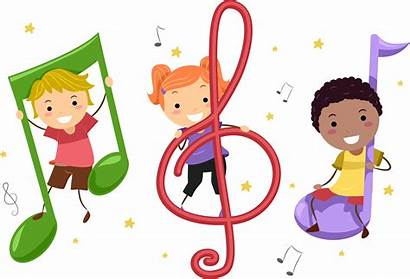 Clipart Children Clip Singing Instruments Playing Notes