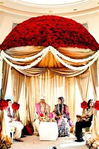 wedding draping fabric mandap pink lotus events