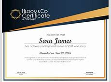 3 Free Certificates of Participation Templates