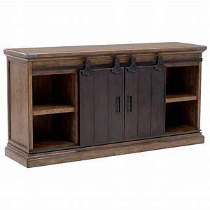pulaski furniture weston loft p001302 buffet with 2 With buffet with barn doors