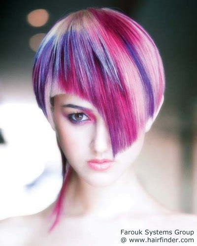 hair  special color effects fuchsia  grape
