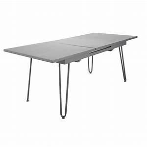 Table A Rallonge : table rallonge de jardin en m tal l 150 cm swing maisons du monde ~ Teatrodelosmanantiales.com Idées de Décoration