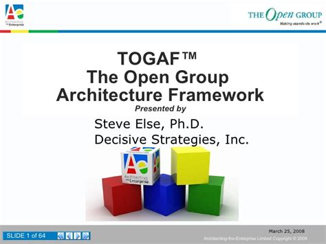 Understanding And Applying The Open Group Architecture