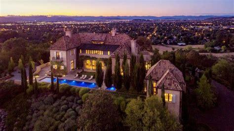 million mediterranean hilltop mansion  medford  homes   rich