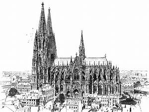 78+ Gothic Architecture Drawing - 04 Basilica Of Saint