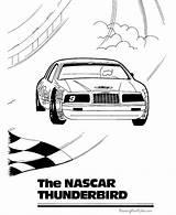 Coloring Nascar Cars Sheets Racing Race Blank Printable Boys Printing Boy Muscle Thunderbird Driver Activity sketch template