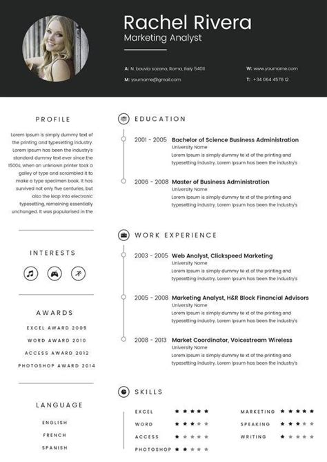 marketing analyst resume template   samples