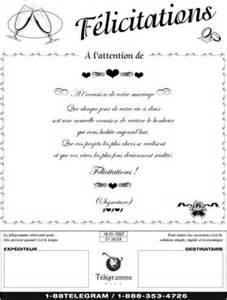 message mariage original télégramme plus