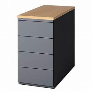 Caisson Rangement Bureau : caisson 4 tiroirs pour bureau caisson 4 tiroirs h74 cm ~ Edinachiropracticcenter.com Idées de Décoration