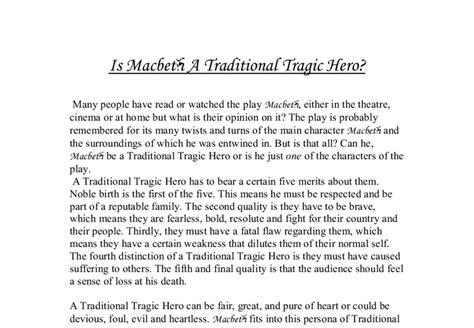 Macbeth Tragic Essay Thesis by Is Macbeth A Traditional Tragic Gcse