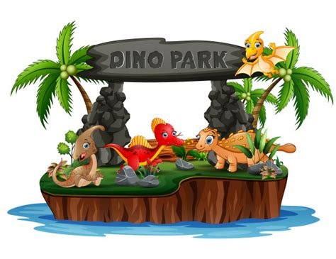 Choose from 560+ cartoon dinosaur graphic resources and download in the form of png, eps, ai or psd. Premium Vector | Cartoon a dinosaurs in dino park island