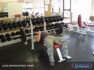 Close Grip Bench Press  Video Exercise Guide  U0026 Tips