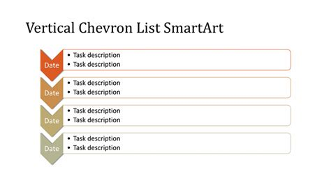 vertical chevron list diagram smartart  multicolor