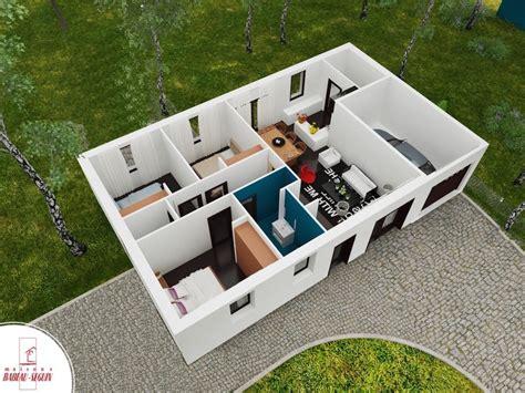 plan maison plain pied 120m2 4 chambres focus la maison low cost par babeau seguin