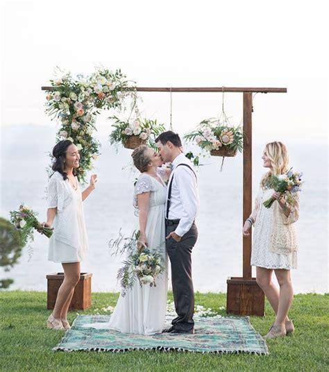 Whimsical Boho Wedding Inspiration Wedding Ceremony