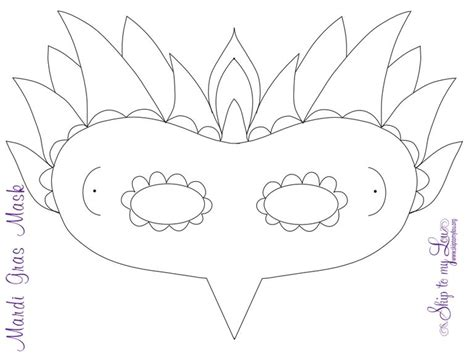 Masquerade Mask Template For Adults by Gallery Mardi Gras Mask Printable Coloring Page For