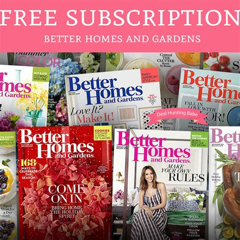 home  gardens magazine subscription deal