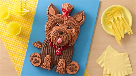 yorkie dog cake recipe bettycrockercom