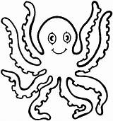 Octopus Coloring Pages Printable Cartoon Toddlers sketch template