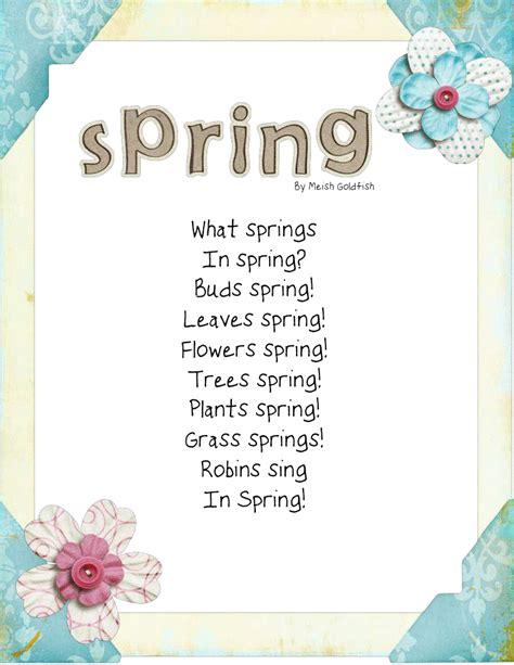 preschool poems quotes quotesgram 501 | 1420575448 spring poem