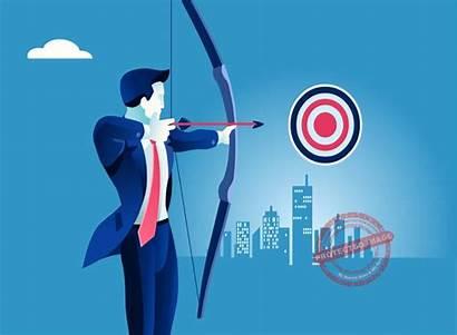 Target Business Success Illustration Focus Focused Motivated