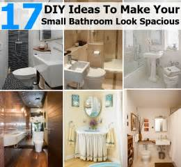 small bathroom diy ideas 17 diy ideas to make your small bathroom look spacious diycozyworld home improvement and