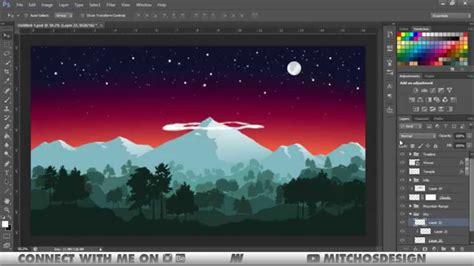 nepal flat landscape speed art photoshop illustrator