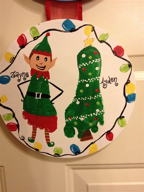 Christmas Hand And Foot Print Craft Finger Hand And Foot
