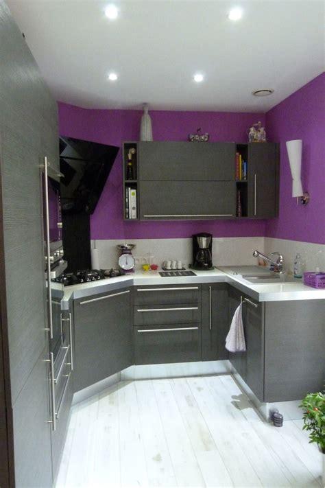cuisine violet aménagement cuisine violet