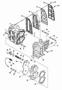 Force 40 Hp  1996  Cylinder Block Assembly Parts