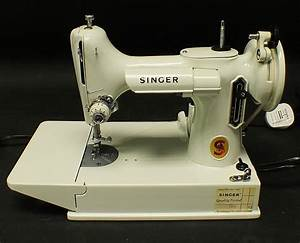 Singer 221k Featherweight Electric Sewing Machine White