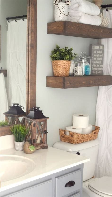 Bathroom Decorating Ideas by Farmhouse Inspired Bathroom Makeover Bathroom