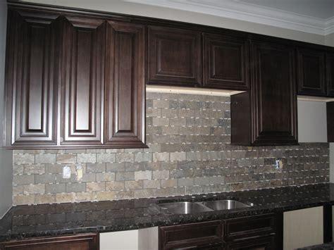 grey kitchen cabinets with backsplash gray tile back splash with dark brown wooden cabinet