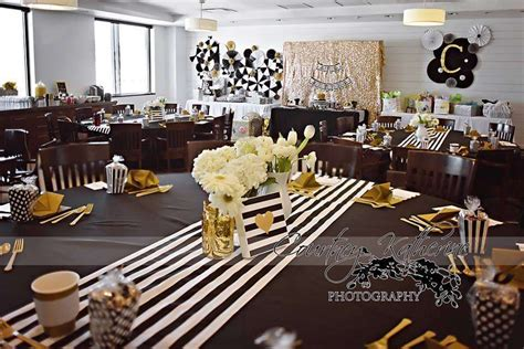 Black And Gold Baby Shower by Black White Gold Baby Shower Ideas Photo 5 Of
