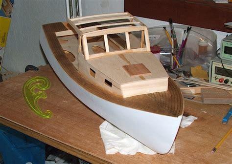 Lobster Boat Wood Model by Building Lobster Boat