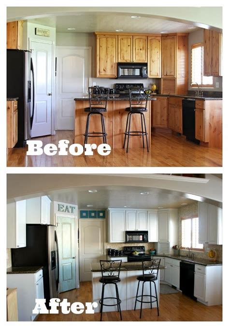 white kitchen cabinets before and after new carpet and backsplash reveal and a review of buy 2054