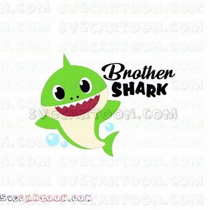 Shark Brother Svg Auntie Clipart Pdf Eps