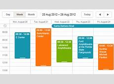 ASPNET Scheduler Event and Booking Calendar demos